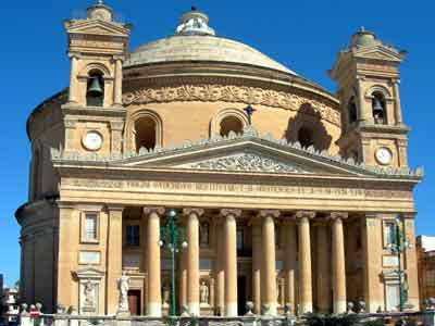 Photograph Mosta Church, Malta. Third largest unsuported dome in the world