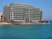 Photograph of the Cavalieri Hotel, Spinola bay, St. Julian's Malta